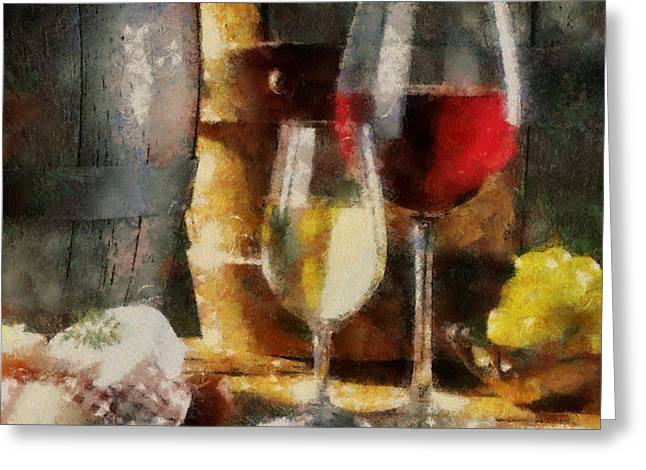 Cellar Mixed Media Greeting Cards - Wine and truth Greeting Card by Georgi Dimitrov