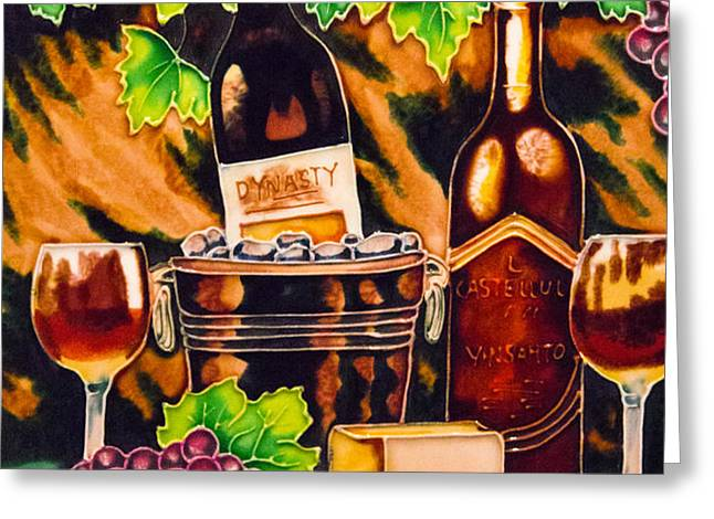 wine Greeting Card by Angelika Bentin