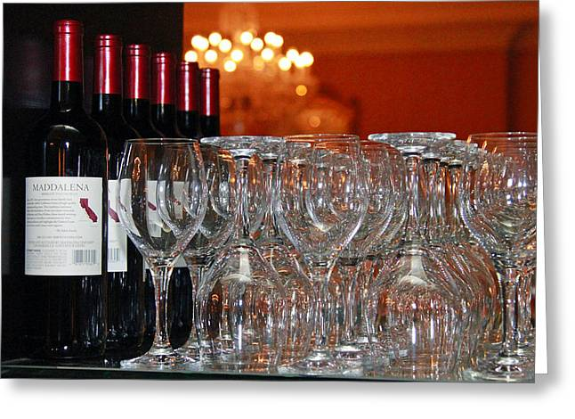 Display Pyrography Greeting Cards - Wine Anyone? Greeting Card by Shoal Hollingsworth