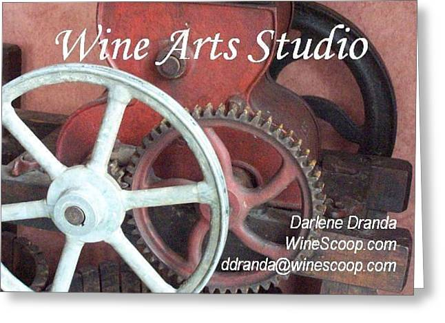 Winepress Greeting Cards - Wine Arts Studio Greeting Card by Darlene Dranda