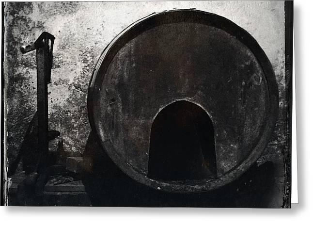Subterranean Greeting Cards - Wine Barrel Greeting Card by Marco Oliveira