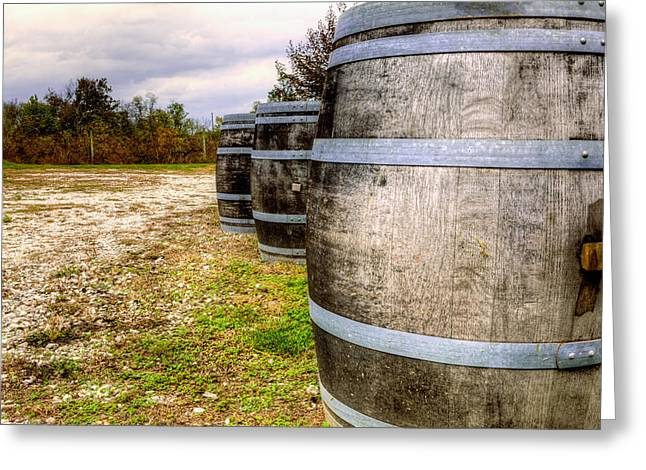 Straps Greeting Cards - Wine barrels Greeting Card by Alexey Stiop