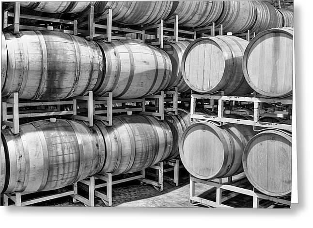 Tasting Rooms California Greeting Cards - Wine Barrels Greeting Card by Richard Cheski