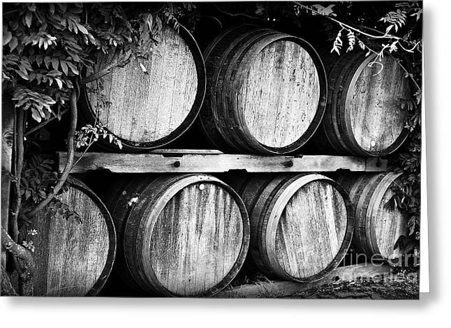 Winery Photography Greeting Cards - Wine Barrels Greeting Card by Scott Pellegrin