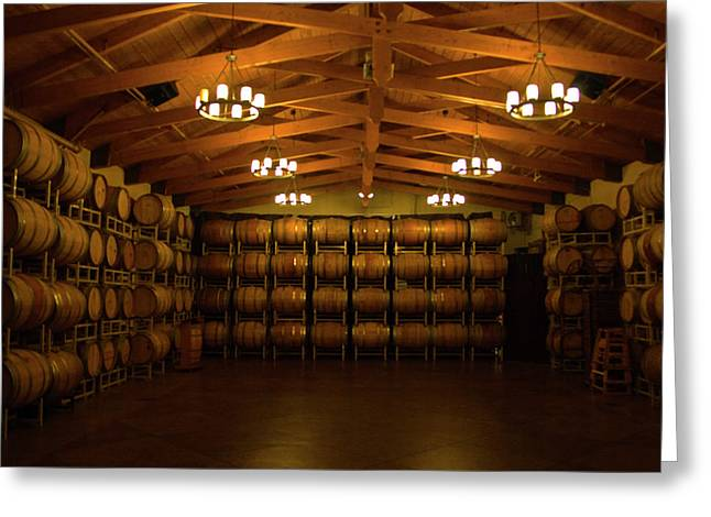 Terry Thomas Greeting Cards - Wine Barrels Greeting Card by Terry Thomas