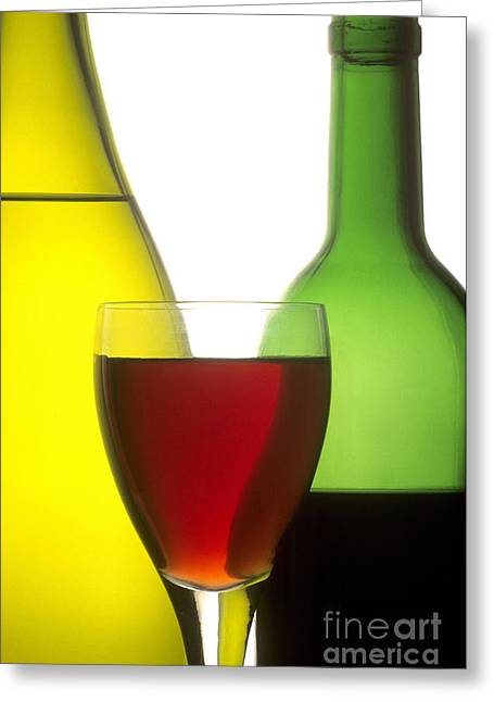 Inboard Greeting Cards - Wine Greeting Card by Bernard Jaubert