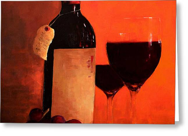 Wine Bottle  Greeting Card by Patricia Awapara