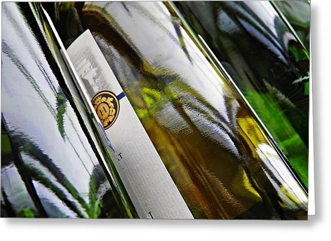 Sarah Loft Greeting Cards - Wine Bottles 15 Greeting Card by Sarah Loft
