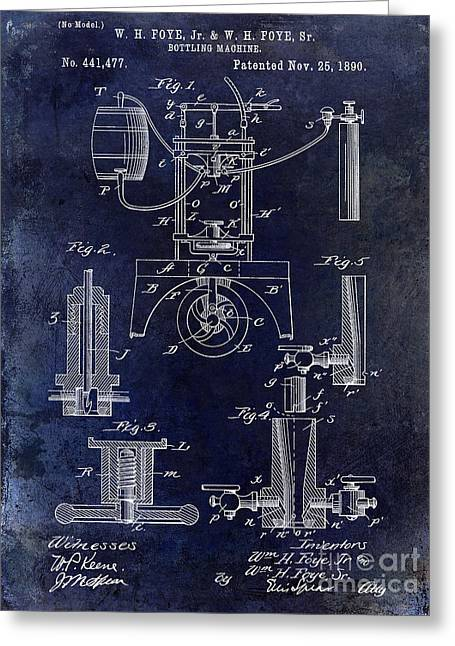California Vineyard Greeting Cards - 1890 Wine Bottling Machine  Greeting Card by Jon Neidert