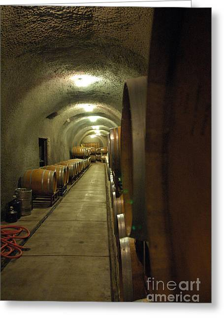 Fermentation Greeting Cards - Wine Cellar 3 Greeting Card by Micah May