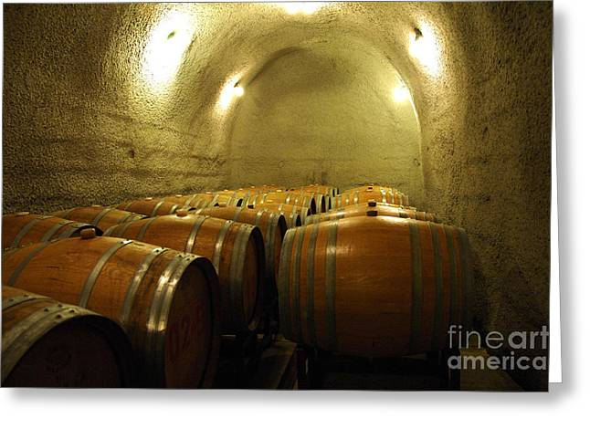 Water In Caves Greeting Cards - Wine Cellar 4 Greeting Card by Micah May