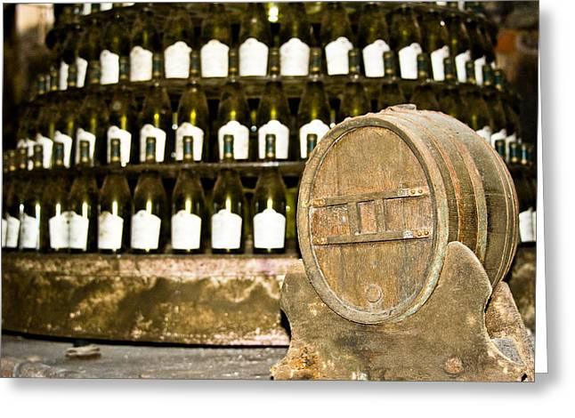 Degustation Greeting Cards - Wine cellar in Sancerre Greeting Card by Oleg Koryagin