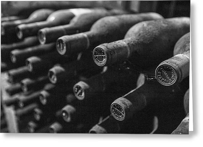 Wine Bottle Images Greeting Cards - Wine Collection Greeting Card by Nomad Art And  Design