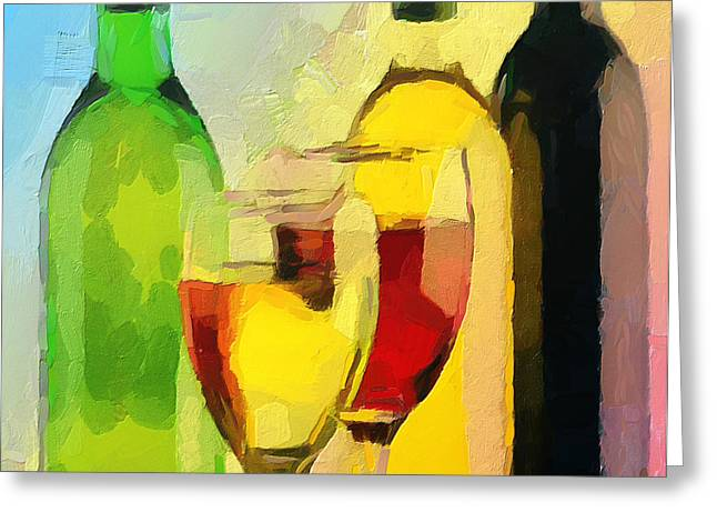 Enjoying Greeting Cards - Wine Colors Greeting Card by Yury Malkov