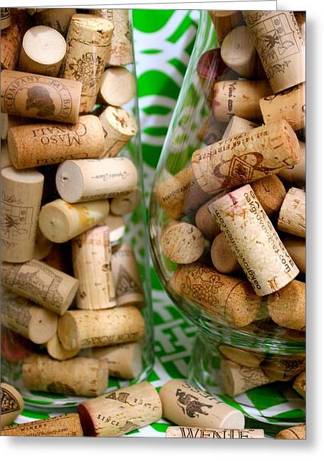 Wine Cork Collection Greeting Cards - Wine Cork Collection Greeting Card by Scotti Smith