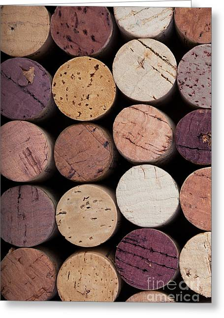 Syrah Greeting Cards - Wine corks 1 Greeting Card by Jane Rix