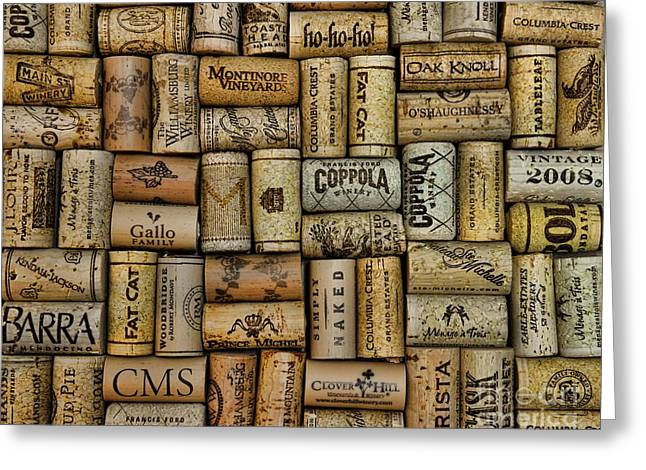 Wine Cork Collection Greeting Cards - Wine Corks after the Wine Tasting Greeting Card by Paul Ward