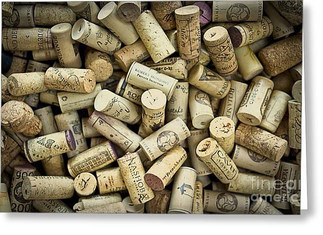 Wineries Greeting Cards - Wine Corks Greeting Card by Edward Fielding