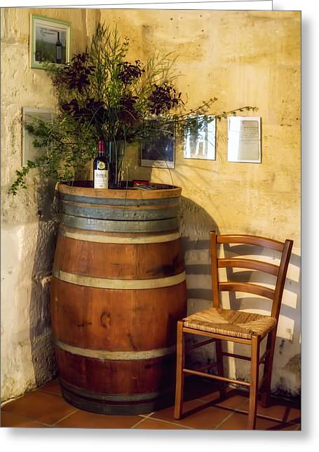 Wine Bottle Images Greeting Cards - Wine Corner Greeting Card by Nomad Art And  Design