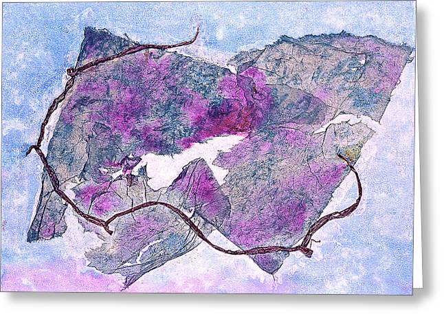 Purple Grapes Mixed Media Greeting Cards - Wine Country Greeting Card by Asha Carolyn Young