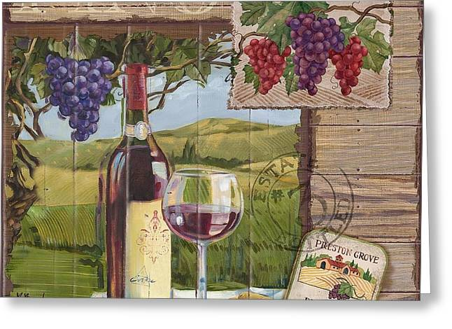 Cabernet Sauvignon Greeting Cards - Wine Country Collage I Greeting Card by Paul Brent