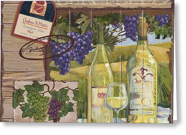 Cabernet Sauvignon Greeting Cards - Wine Country Collage II Greeting Card by Paul Brent