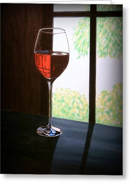 Vintage Red Wine Paintings Greeting Cards - Wine Country Greeting Card by Karyn Robinson