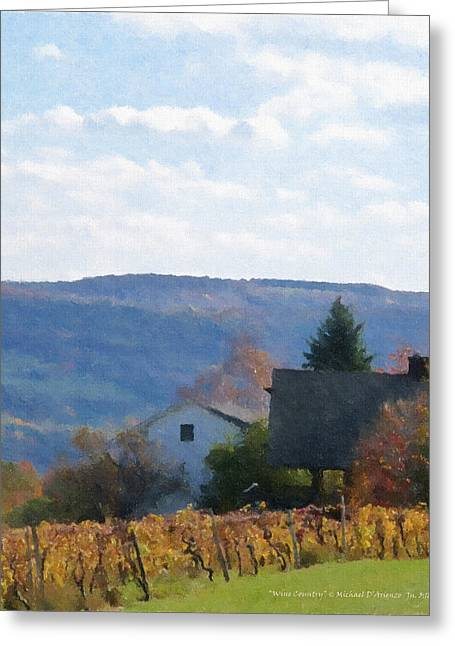Keuka Paintings Greeting Cards - Wine Country Greeting Card by Michael DArienzo