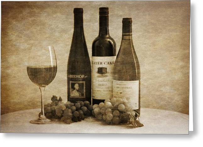 Owner Greeting Cards - Wine  Greeting Card by Dan Sproul