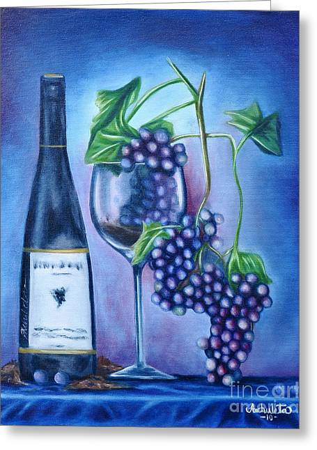 Wine Dance Greeting Card by Ruben Archuleta - Art Gallery