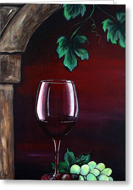Dani Jennings Art Greeting Cards - Red Wine Sunset Greeting Card by Danise Abbott