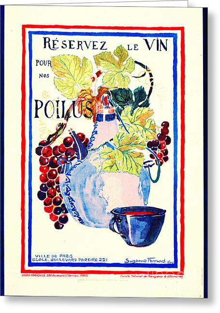 Padre Art Greeting Cards - Wine for Soldiers 1916 Greeting Card by Padre Art