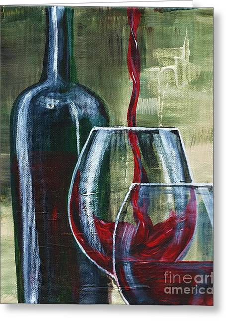 Zinfandel Greeting Cards - Wine for two Greeting Card by Lisa Owen-Lynch