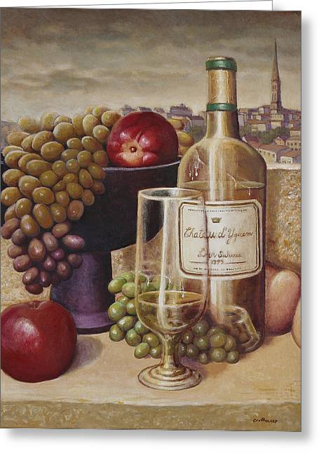Glass Bottle Greeting Cards - Wine from Nantes Greeting Card by Gregory Colhouer