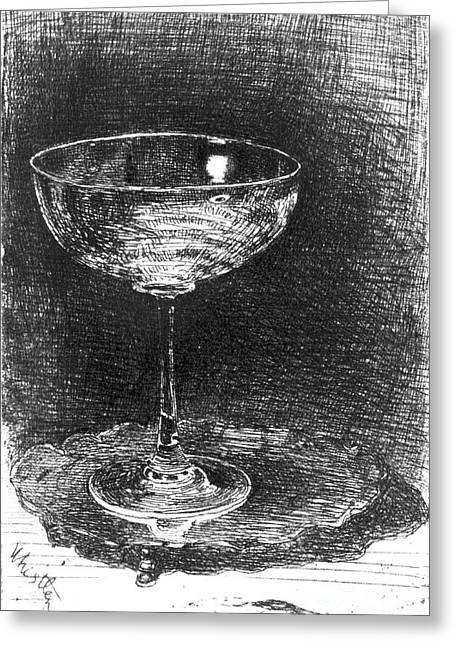Wine Glass 1860 Greeting Card by Padre Art