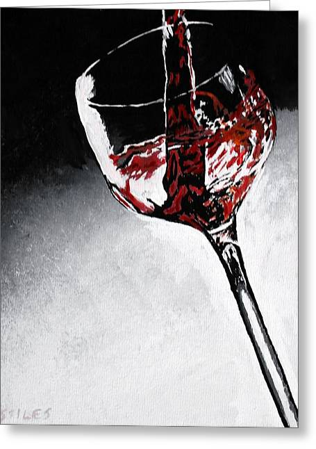 Wine Pour Paintings Greeting Cards - Wine Glass Greeting Card by Mark Stiles