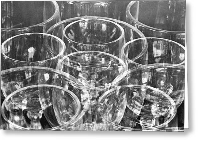 Abstract Forms Greeting Cards - Wine Glasses , Mexico City, 1925 Greeting Card by Tina Modotti