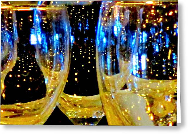 Goblet Greeting Cards - Wine Glasses 1 Greeting Card by Randall Weidner