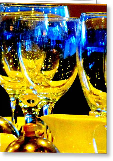 Goblet Greeting Cards - Wine Glasses 2 Greeting Card by Randall Weidner