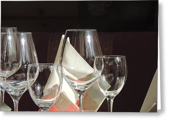 Goblet Greeting Cards - Wine Glasses Greeting Card by Mountain Dreams