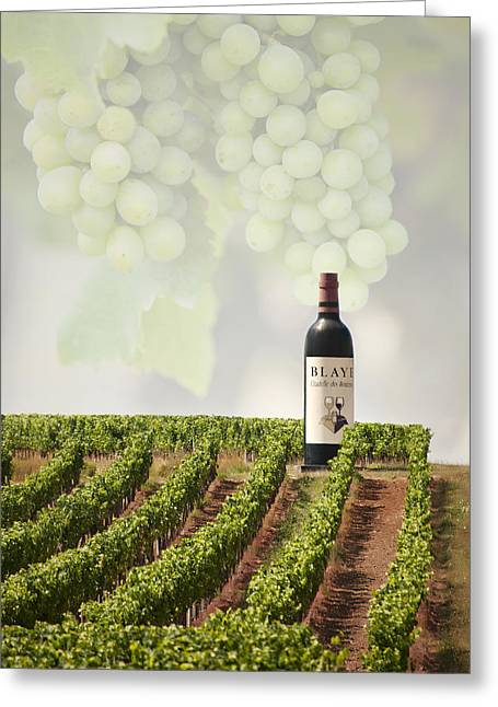 Red Wine Prints Photographs Greeting Cards - Wine Greeting Card by Gouzel -