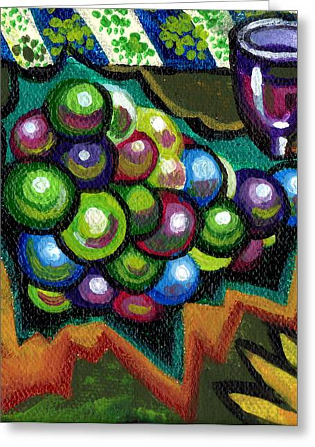 Yellow Flowers Stretched Prints Greeting Cards - Wine Grapes Greeting Card by Genevieve Esson