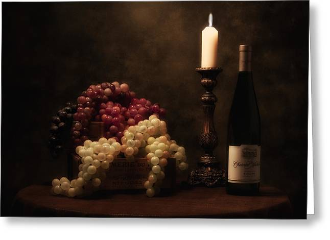 Tabletop Greeting Cards - Wine Harvest Still Life Greeting Card by Tom Mc Nemar