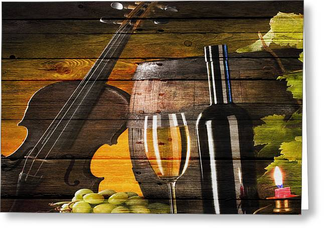 Wine Greeting Card by Joe Hamilton
