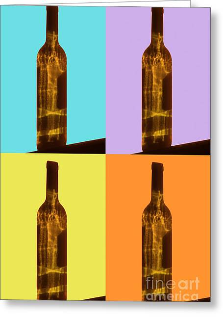 Wine Reflection Art Greeting Cards - Wine Lover Greeting Card by Lynne Sutherland