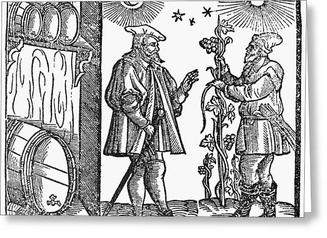 Wine Merchant, 1582 Greeting Card by Granger