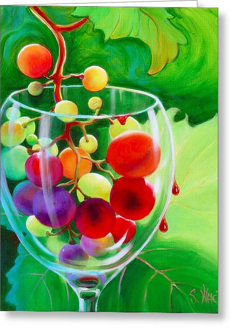 Great Wine Greeting Cards - Wine on the Vine III Greeting Card by Sandi Whetzel