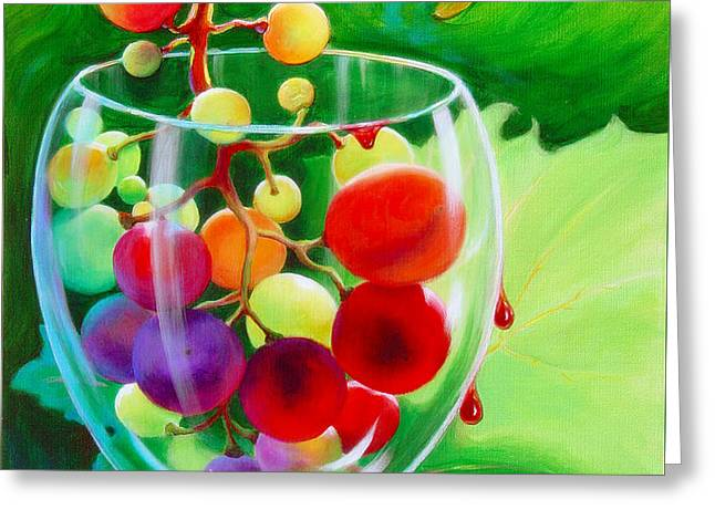 Wine On The Vine IIi Greeting Card by Sandi Whetzel