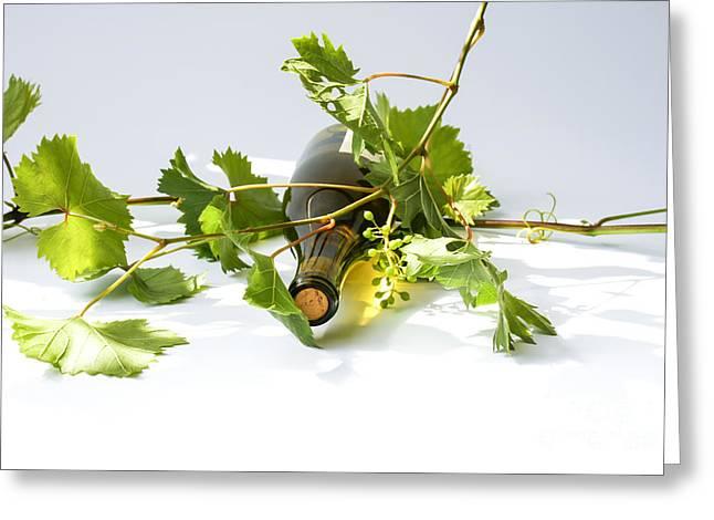 Wine Greeting Card by Patricia Hofmeester