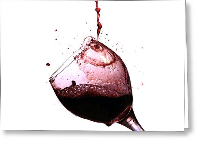 Wine Pour Photographs Greeting Cards - Wine pour Greeting Card by Michael Ledray